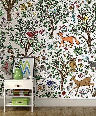 Another great find on #zulily! Wilderness Coloring Wall Mural ...
