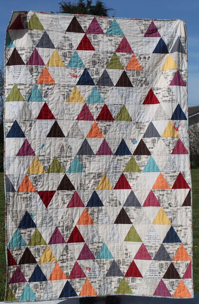 Triangle Quilt | Little Island Quilting | Sixty Degree Triangle ... : little island quilting - Adamdwight.com