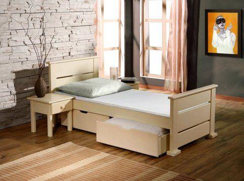 Lit enfant en bois massif avec 2 tiroirs sur roulettes | Chambre L ...