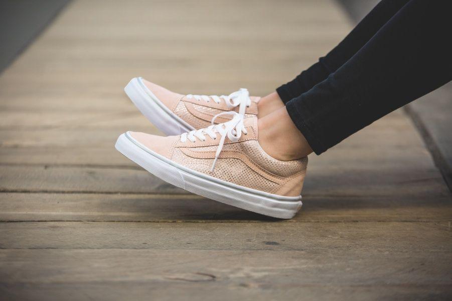 Vans Old Skool Metallic Dots Pink Va38g1mu5 Sneakers Sneaker Stores Vans Shop