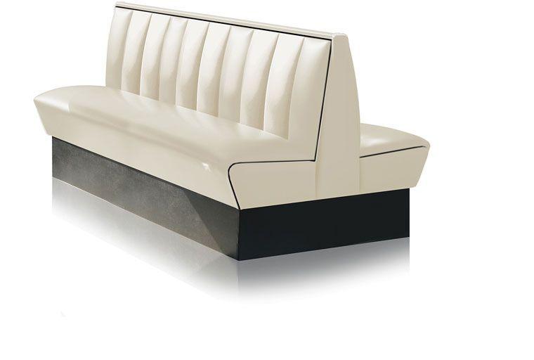 Divanetto panca doppia seduta modello dakland colore off white altezza schienale 93 cm - Altezza schienale divano ...