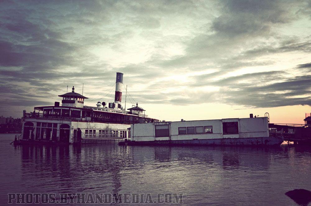 Former Binghamton's Floating Restaurant in Weehawkin, New Jersey.