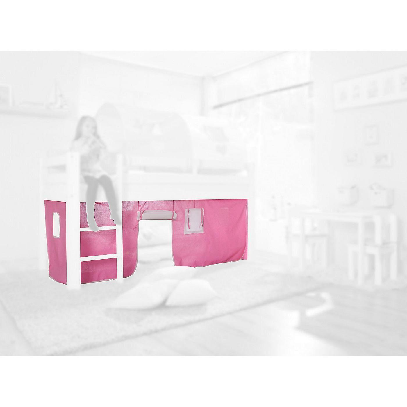 Das Vorhangset von Relita ist die perfekte Ergänzung für die entsprechenden Spieltbetten. Das Vorhangset umschließt den unteren Teil des Bettes von 3 Seiten. Durch die kleine Stofftür, welche aufgerollt und festgebunden werden kann, gelangt man in die neue Spielhöhle und die kleinen Fenster zu allen Seiten erhöhen den Spaßfaktor. Das Vorhangset wird mit einem Klettband an den Pfosten des Bettes...