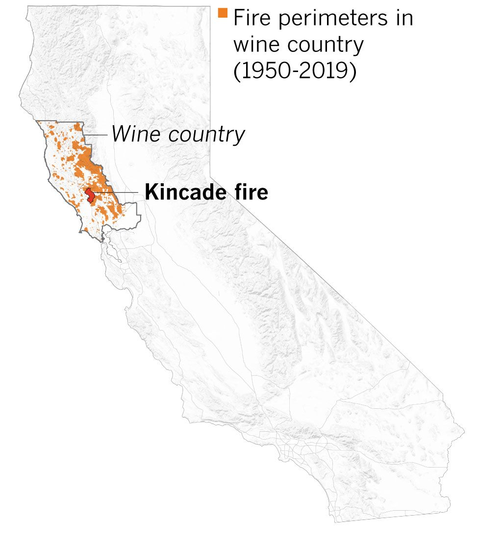 We Mapped Every Wine Country Fire They Re Larger And More Destructive Than Ever Wine Country Us Map Country