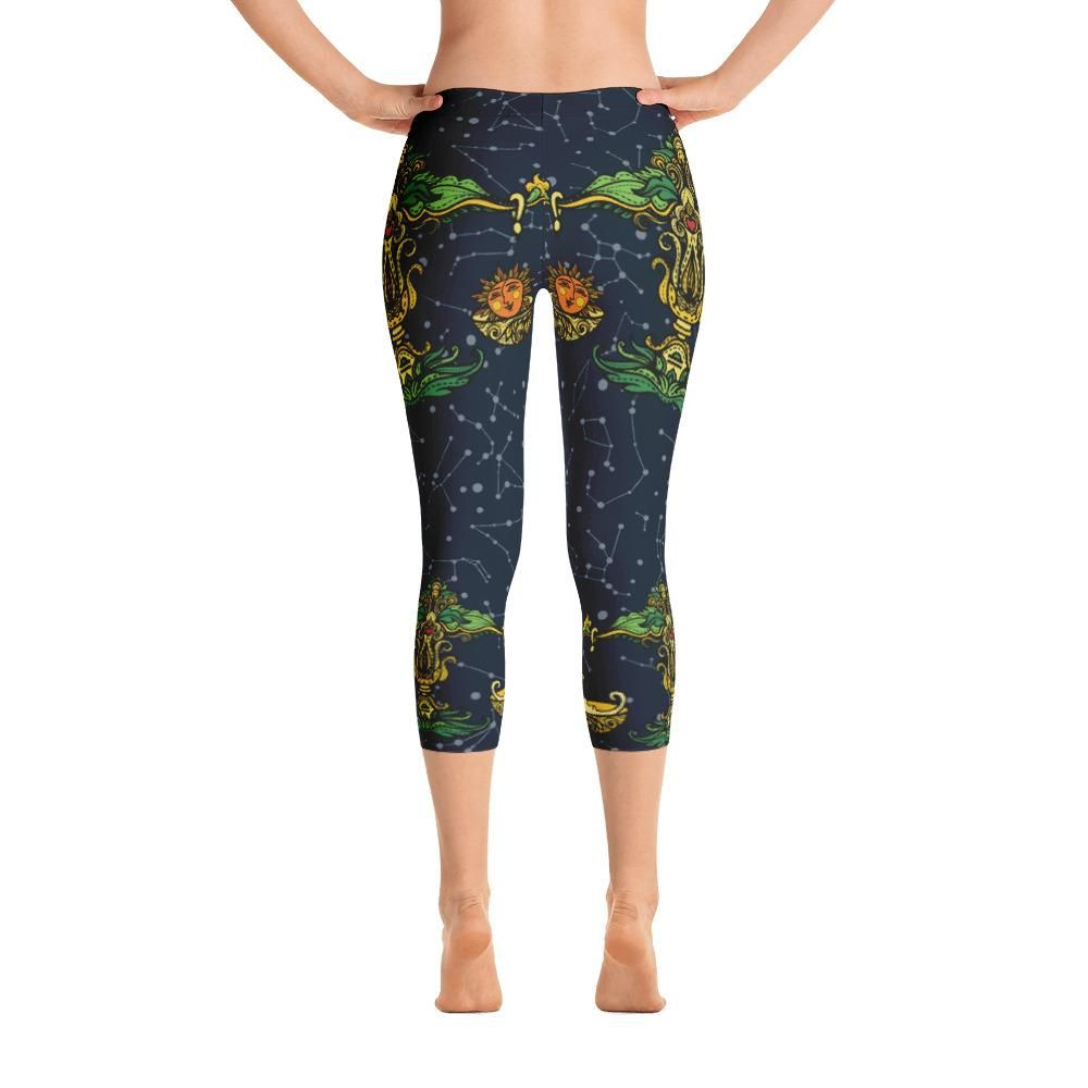 Super soft and comfortable capri leggings. • 82% polyester/18% spandex • Material has a four-way stretch, which means fabric stretches and