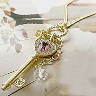 Women's Heart Gold Crown Crystal Necklace – EUR € 2.72