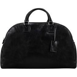 Reisetaschen #handluggage Damen Reisetasche aus italienischem Leder in Schwarz von Maxwell Scott Bags Maxwell ScottMaxwell Sco