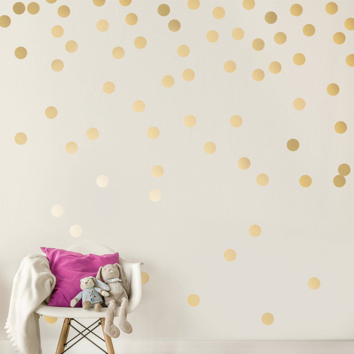 AmazonSmile Gold Wall Decal Dots Decals Easy Peel Stick - Gold dot wall decals nursery