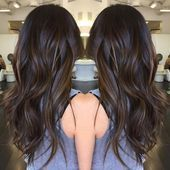 Black hair with warm brown highlights #blackhairideas – #Black #blackhairideas # … ,  #blac…