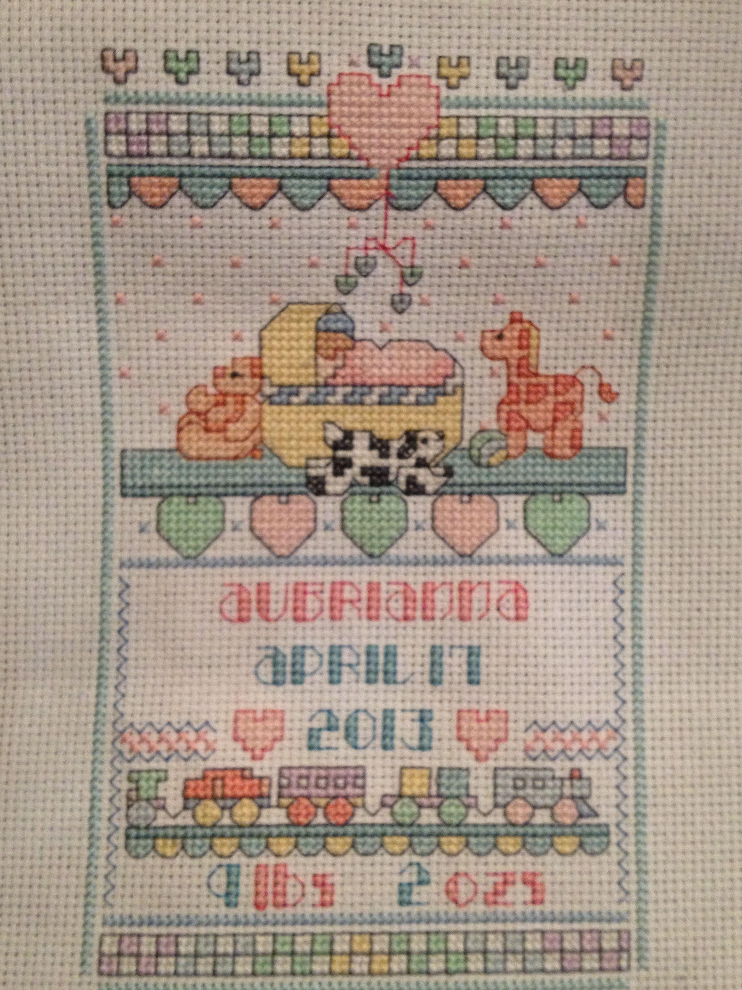 Cross stitch I made for Aubrianna.