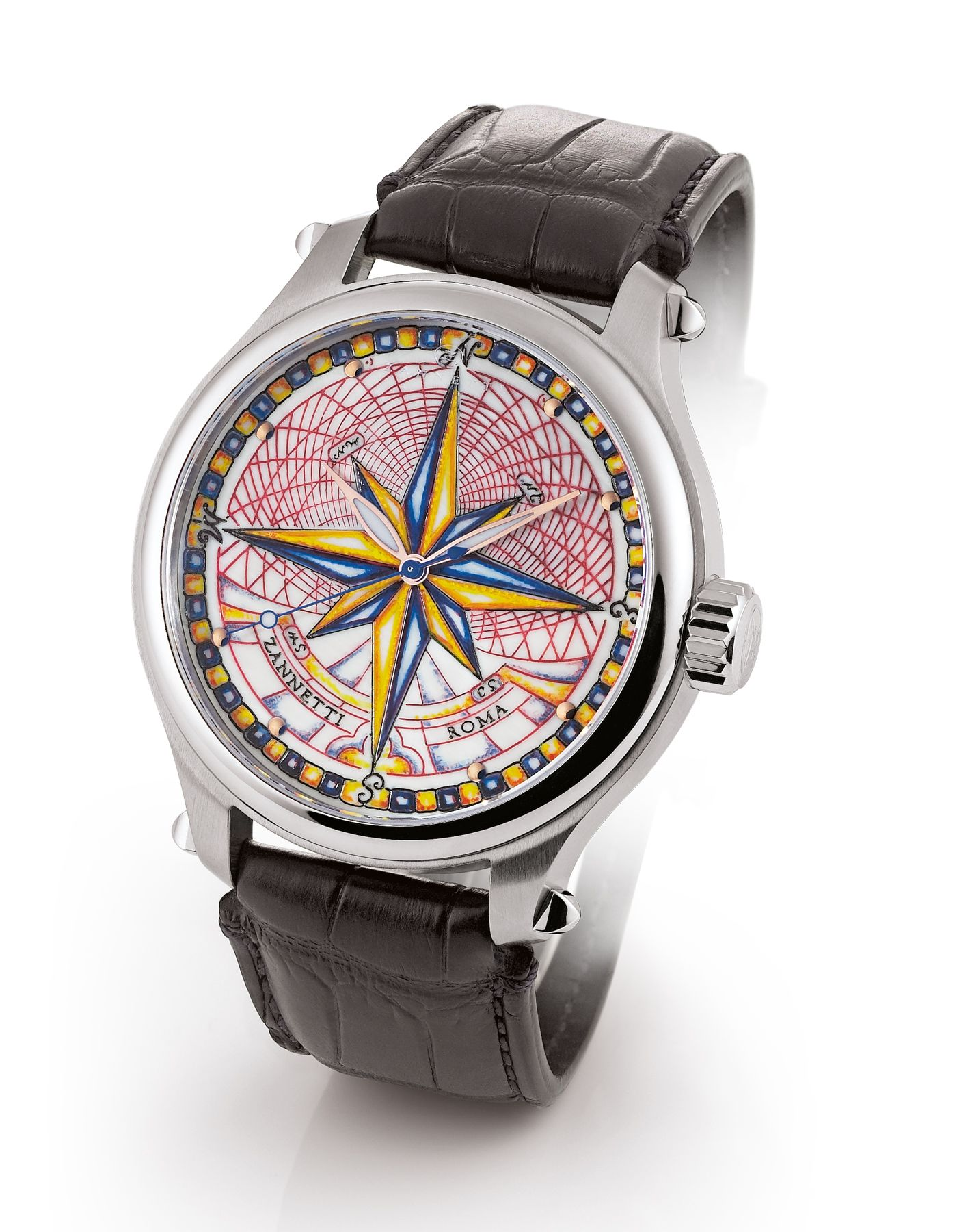 Zannetti Magnifi Collection The Is Characterised By A Personalized Extra Large Watch Case And An Engraved Dial Which Exhibits