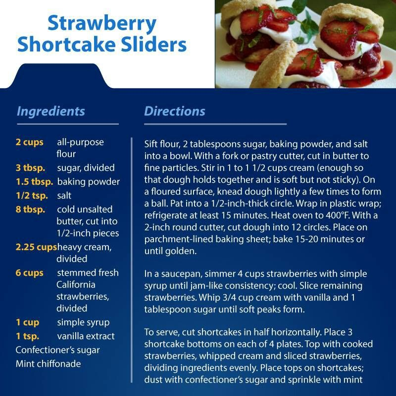 Strawberry Shortcake Sliders | Recipes I'd like to try | Pinterest