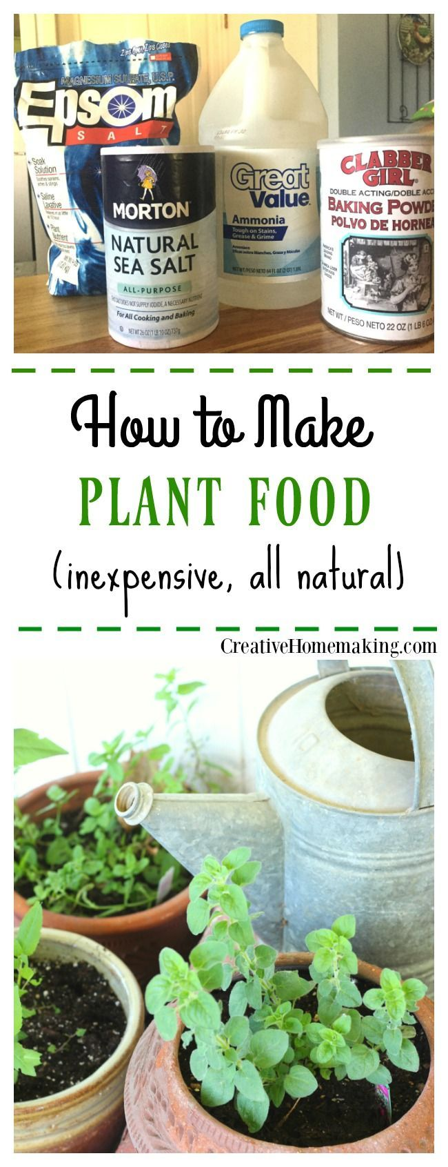 How to Make Homemade Plant Food Looking for a way to make your own plant food? Easily make your own inexpensive plant food from these common household products. to Make Homemade Plant Food Looking for a way to make your own plant food? Easily make your own inexpensive plant food from these common household products.Looking for a way to make your own plant food? Easily make your own inexpensive plant food from these common household products.