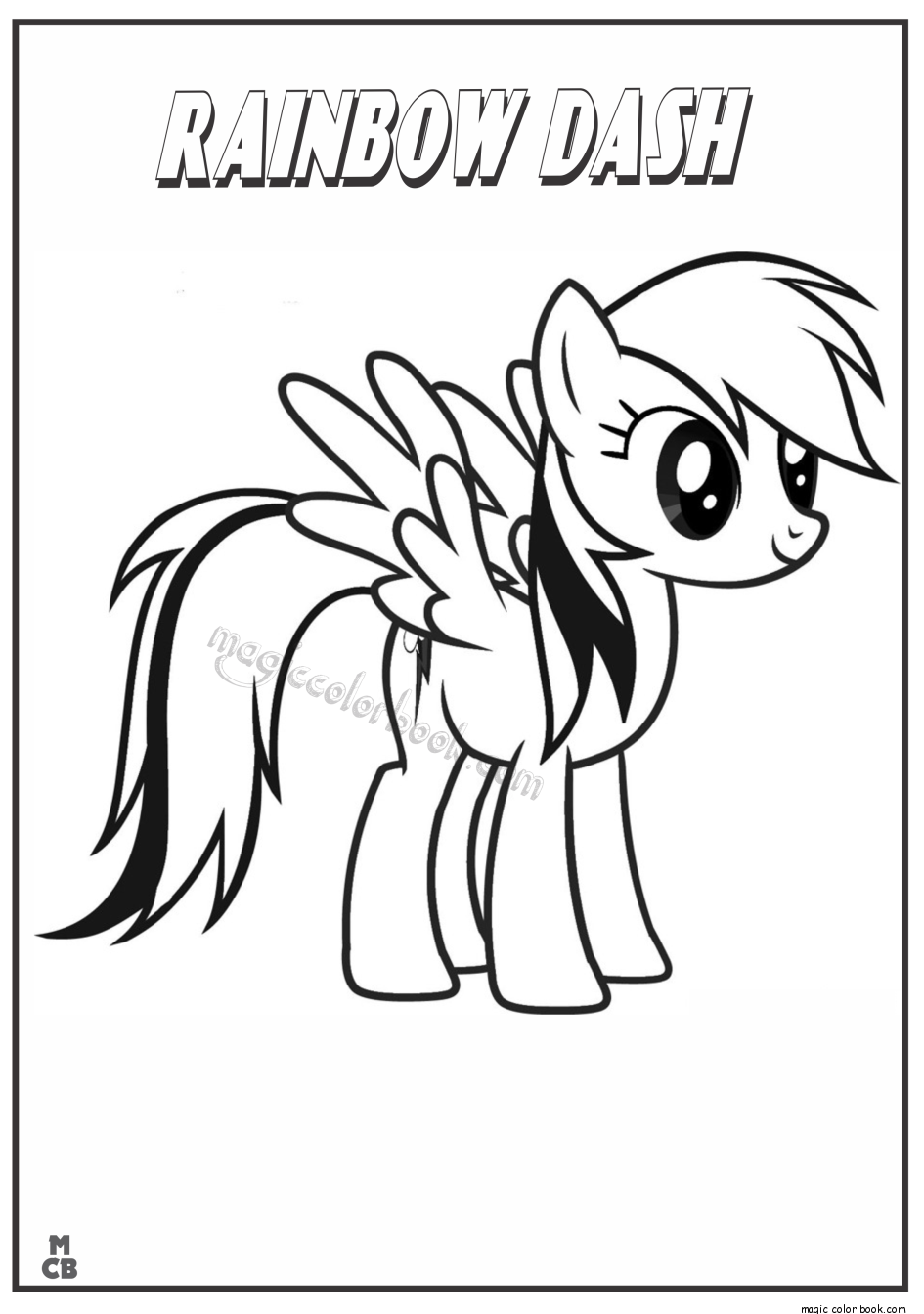 My Little Pony Coloring Pages rainbow dash | Alphabet matching ...