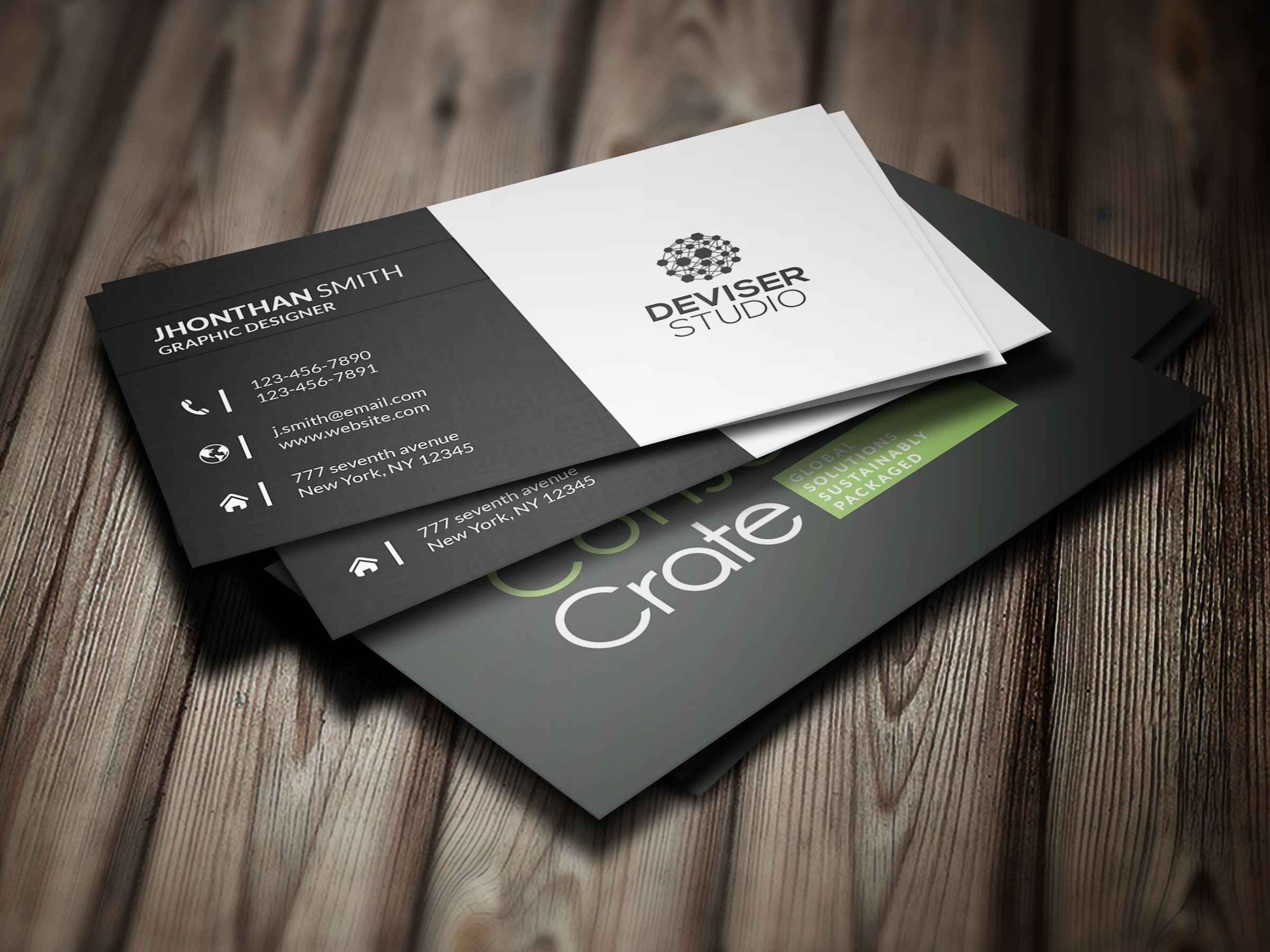 blank business card design mockup psd file free download - HD1920×1440