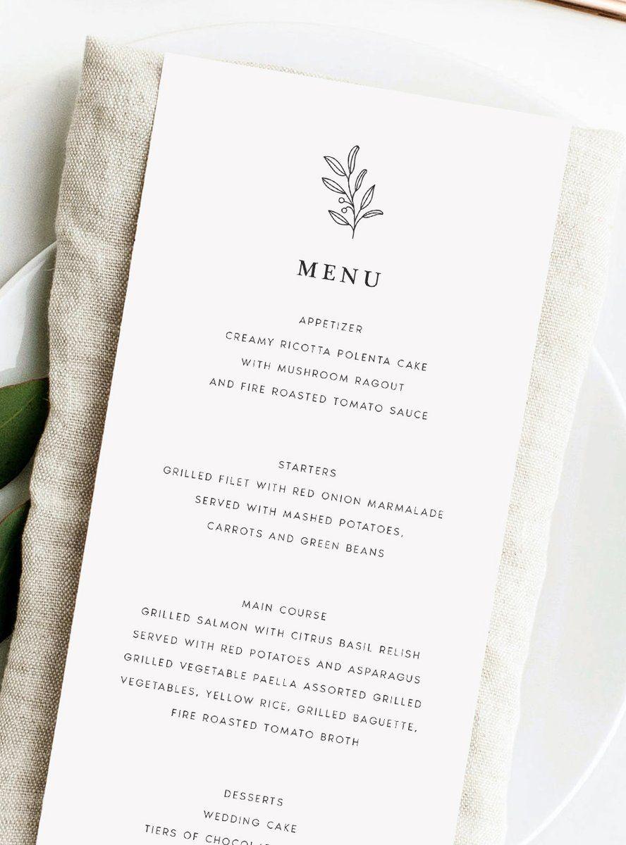 Wedding Menu Card Wedding Styling Wedding Inspiration Wedding Ideas Wedding Stationery Wedding Menus Wedding Menus Design Wedding Dinner Menu Wedding Menu