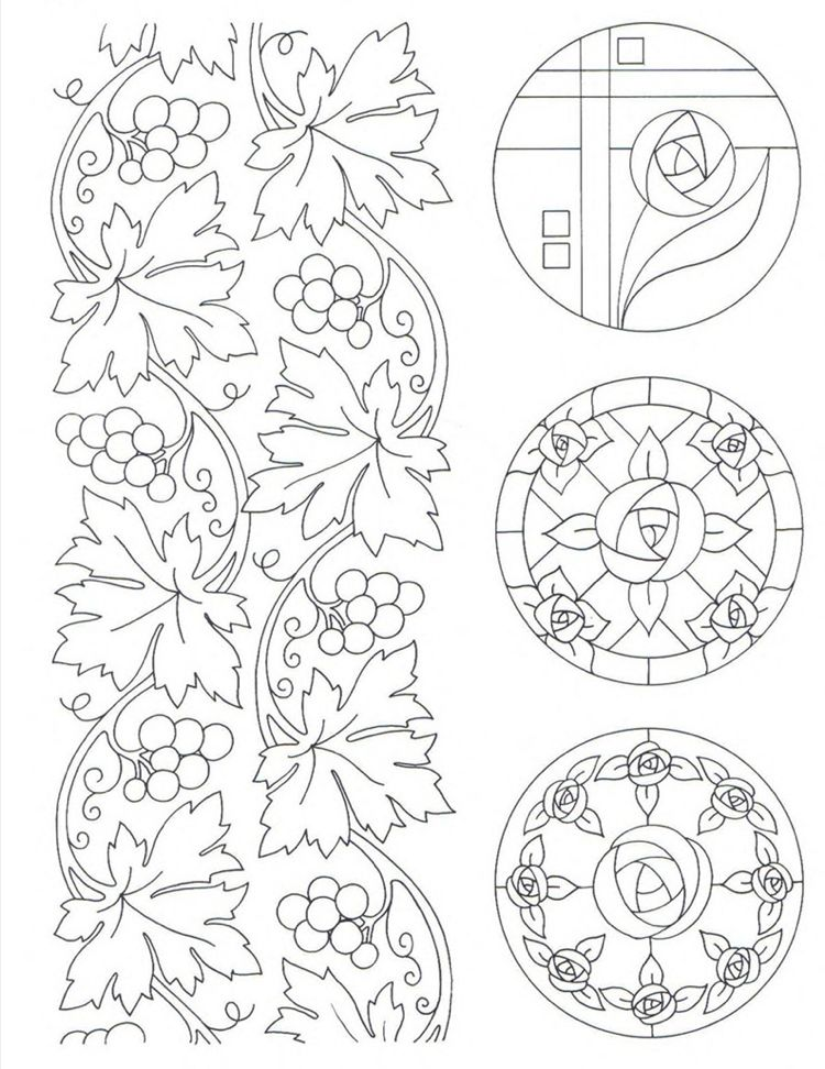Weinreben Und Rosen Motive Im Jugendstil Ornamente Jugendstil Stickereimuster