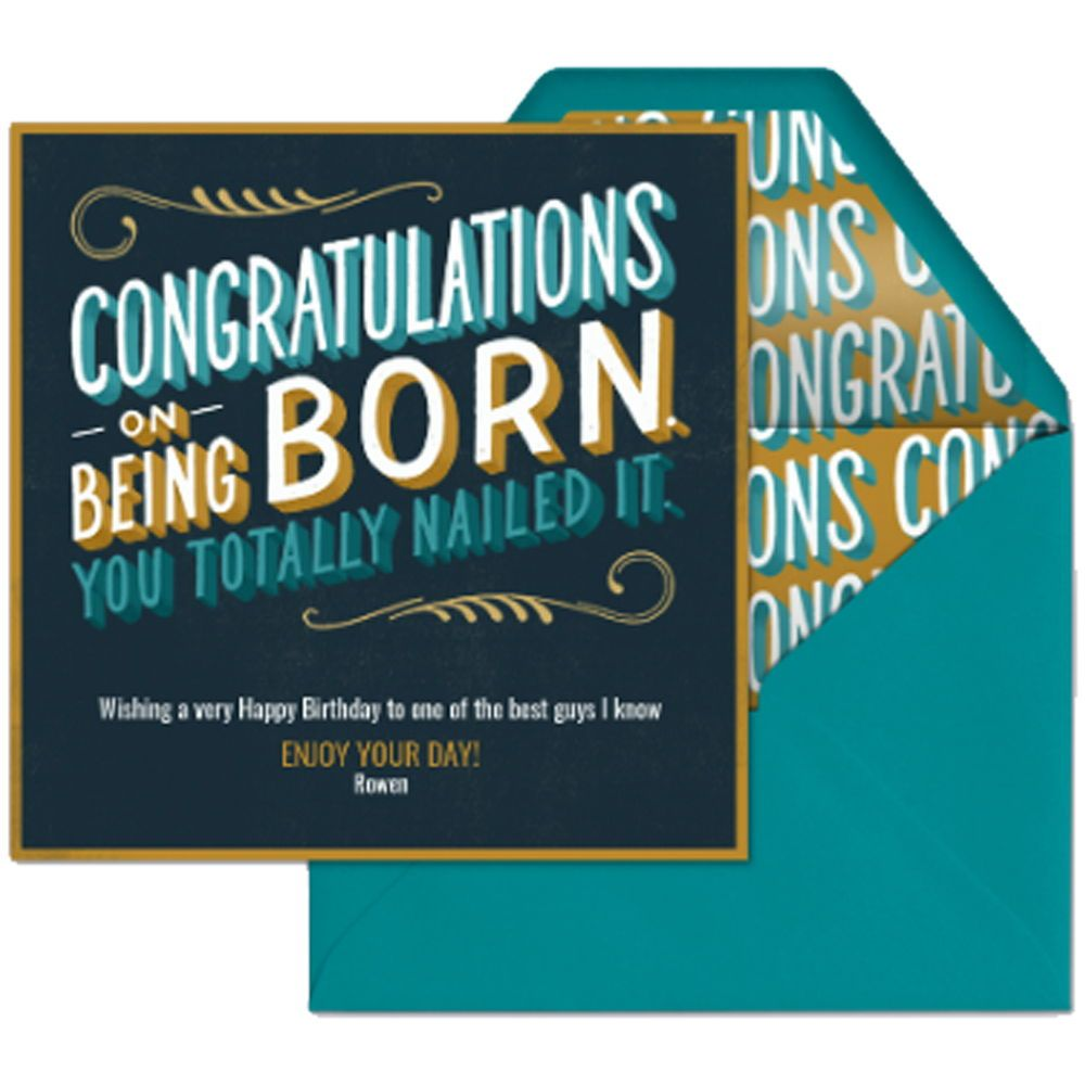 Tell Your Bestie They Did A Great Job On Being Born With This Digital Birthday Card From Evite