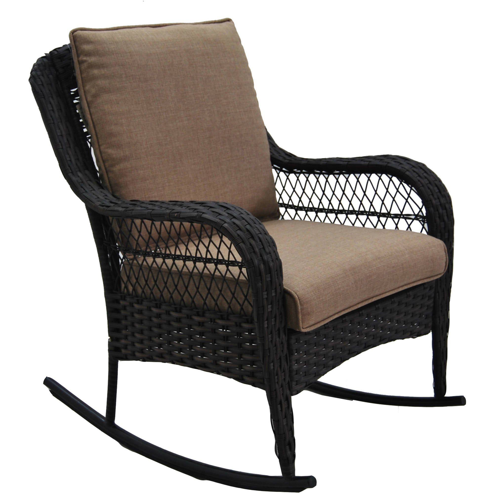 better homes and gardens colebrook rocking chair tan all weather rh pinterest at