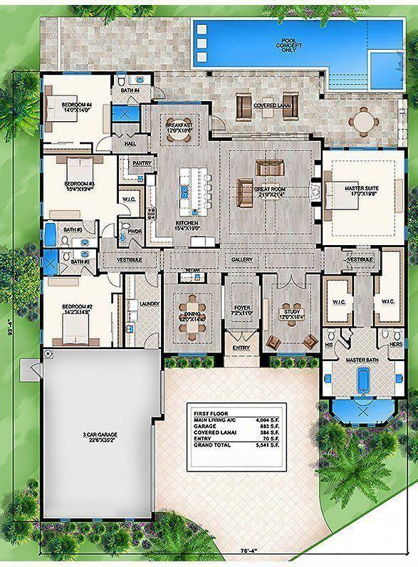 Orange Isle Orange Isle 1st 587 Mediterraneanhomes Florida House Plans House Layout Plans Family House Plans