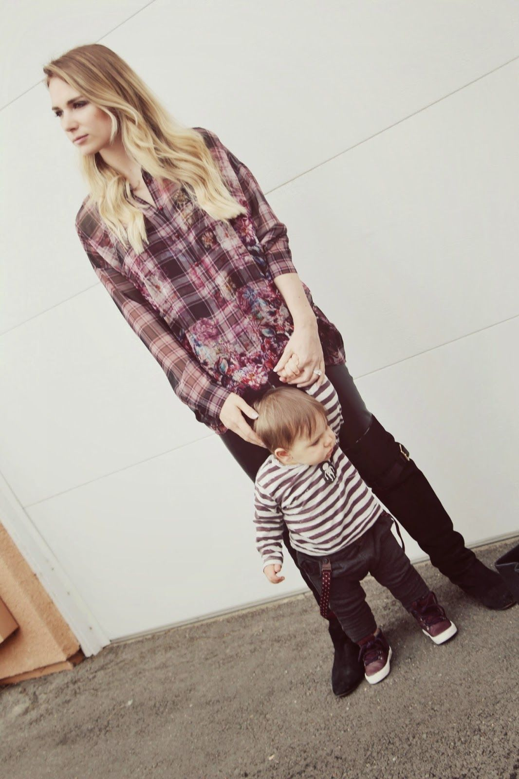 My Love and Beyond - Mommy & Baby Fashion Blog: Burgandy flower outfit
