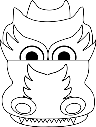 Image Result For Chinese Dragon Head Template