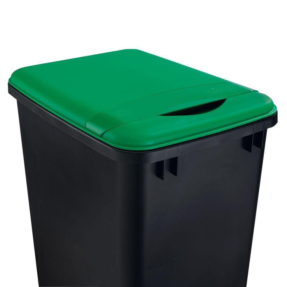 Rev A Shelf 1 75 In H X 10 7 In W X 14 75 In D 50 Qt Green Waste Container Recycling Lid Rv 50 Lid G 1 Kitchen Trash Cans Waste Container Rev A Shelf
