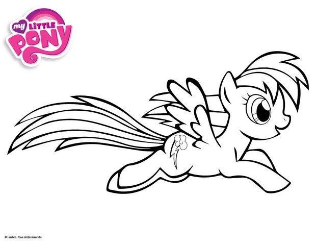 Dessin de my little pony dessins anim s colorier - My little pony en dessin anime ...