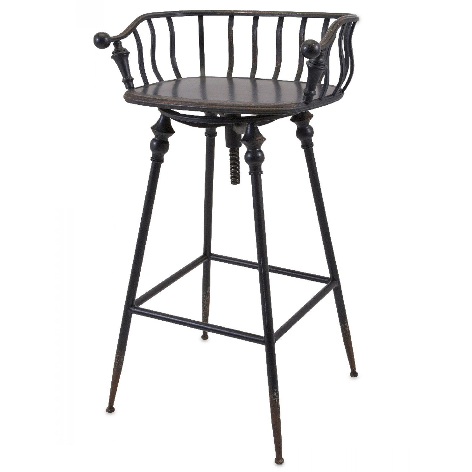 Imax Worldwide 19207 Crestly Metal Bar Chair