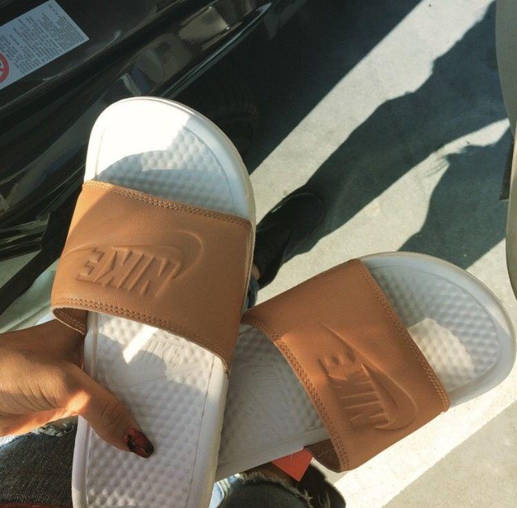 dce098485275 ☼Pinterest    uniquenaja ☼ Pink Nike Slides