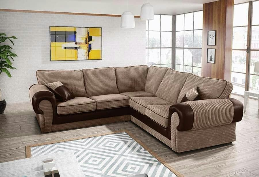 Brand New Dylan Jumbo Cord Corner Sofa Available In 9 Colours Corner Sofa Corner Sofa Living Room Living Room Sofa