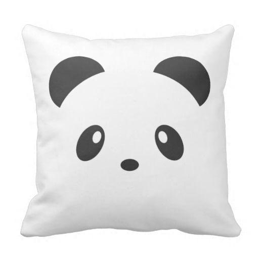 Cute Panda Pillow : Cute Panda Throw Pillow for the home. pillow story ^__^ Pinterest Panda, Throw pillows and ...