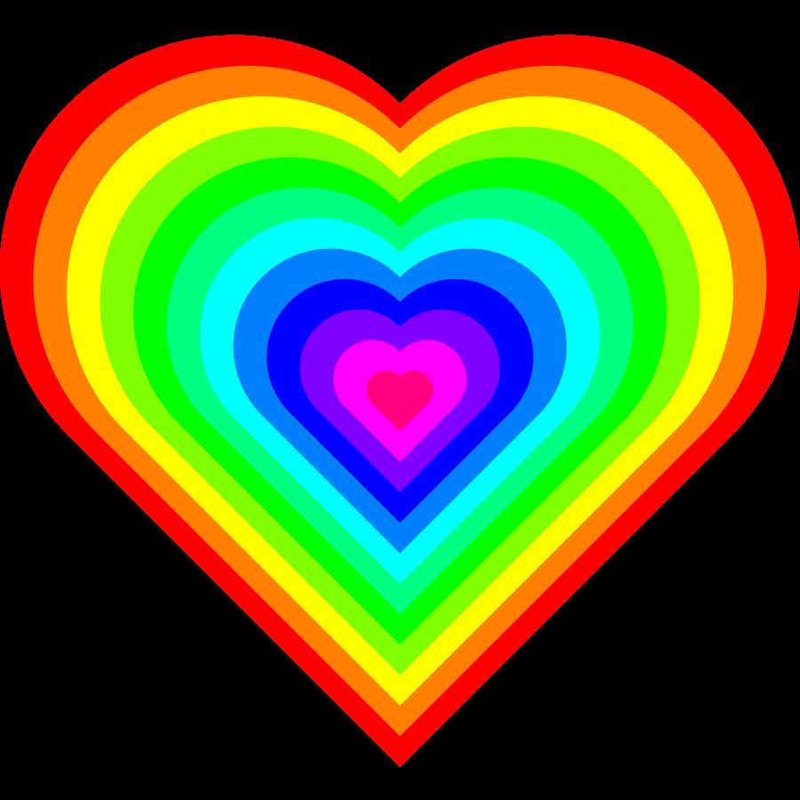 Heart Rainbow Colors Regenboog Hart Hart Regenboog