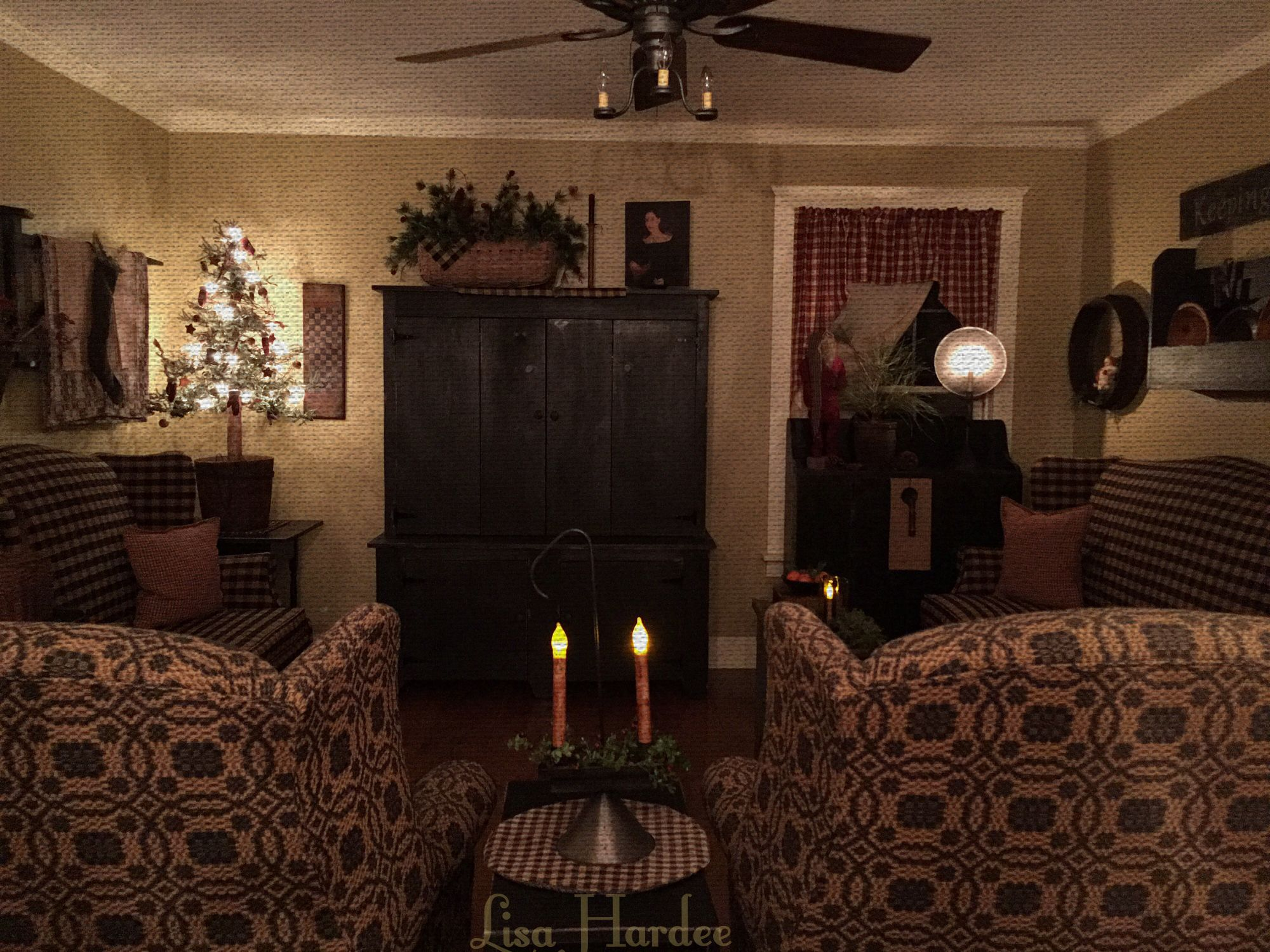 Prim Colonial Keeping Room   Primitive decorating living ...