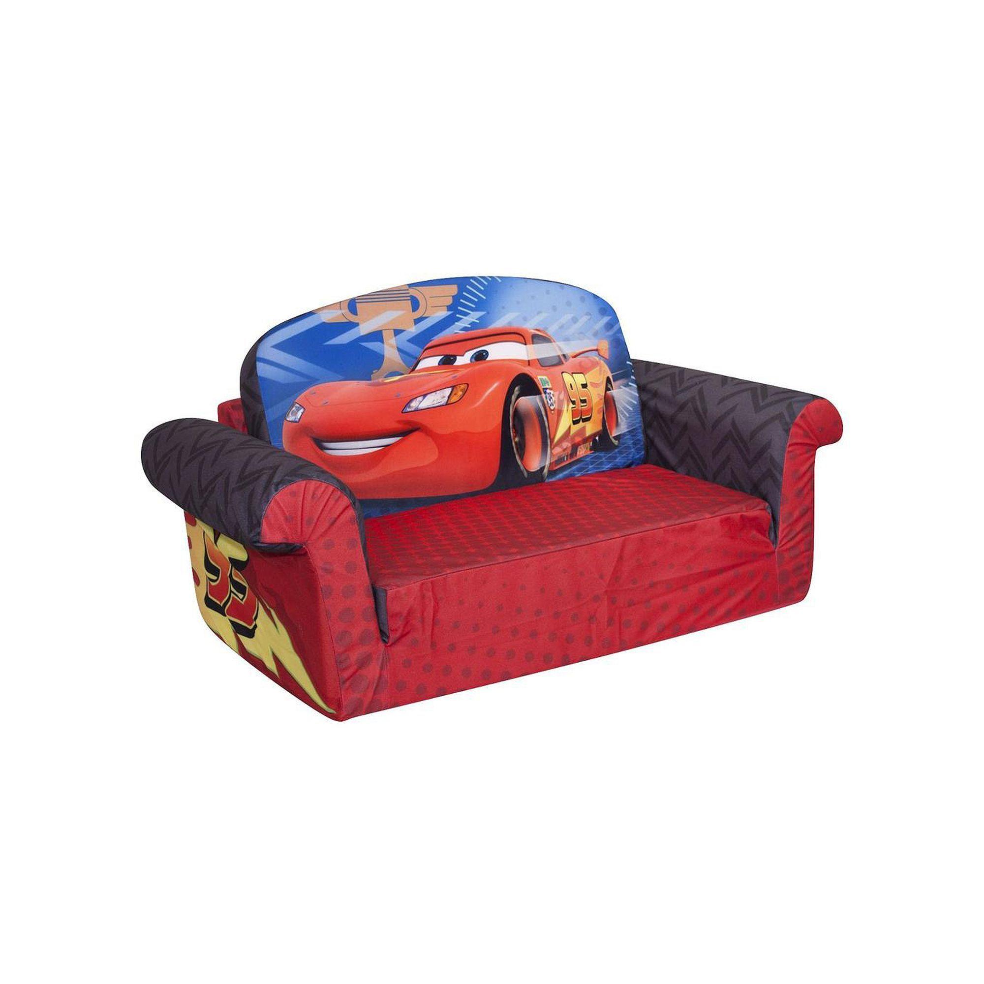 Disney Pixar Cars Marshmallow 2 In 1 Flip Open Kids Sofa By Spin