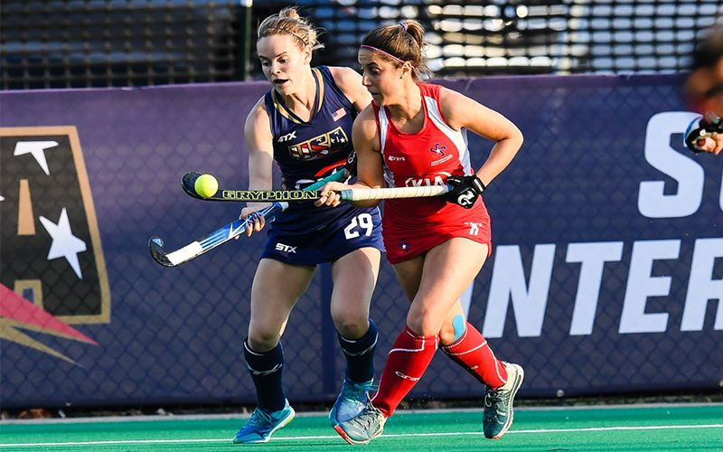 In Front Of A Packed Stadium At Spooky Nook Sports In Lancaster Pa The U S Women S National Team Took On No 15 Chil Spooky Nook Sports Sports Field Hockey