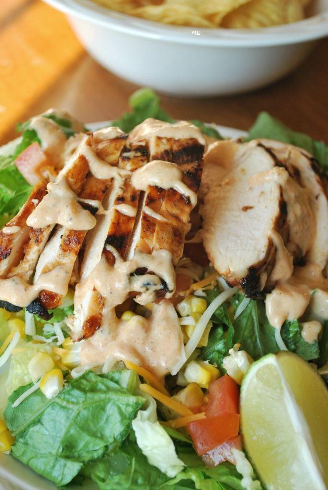 Mango BBQ Chicken Salad