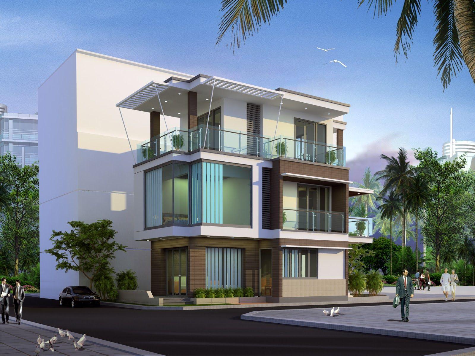 3D Exteriors Villa 6 Model 3dsmax by Mr Thuong Free Download