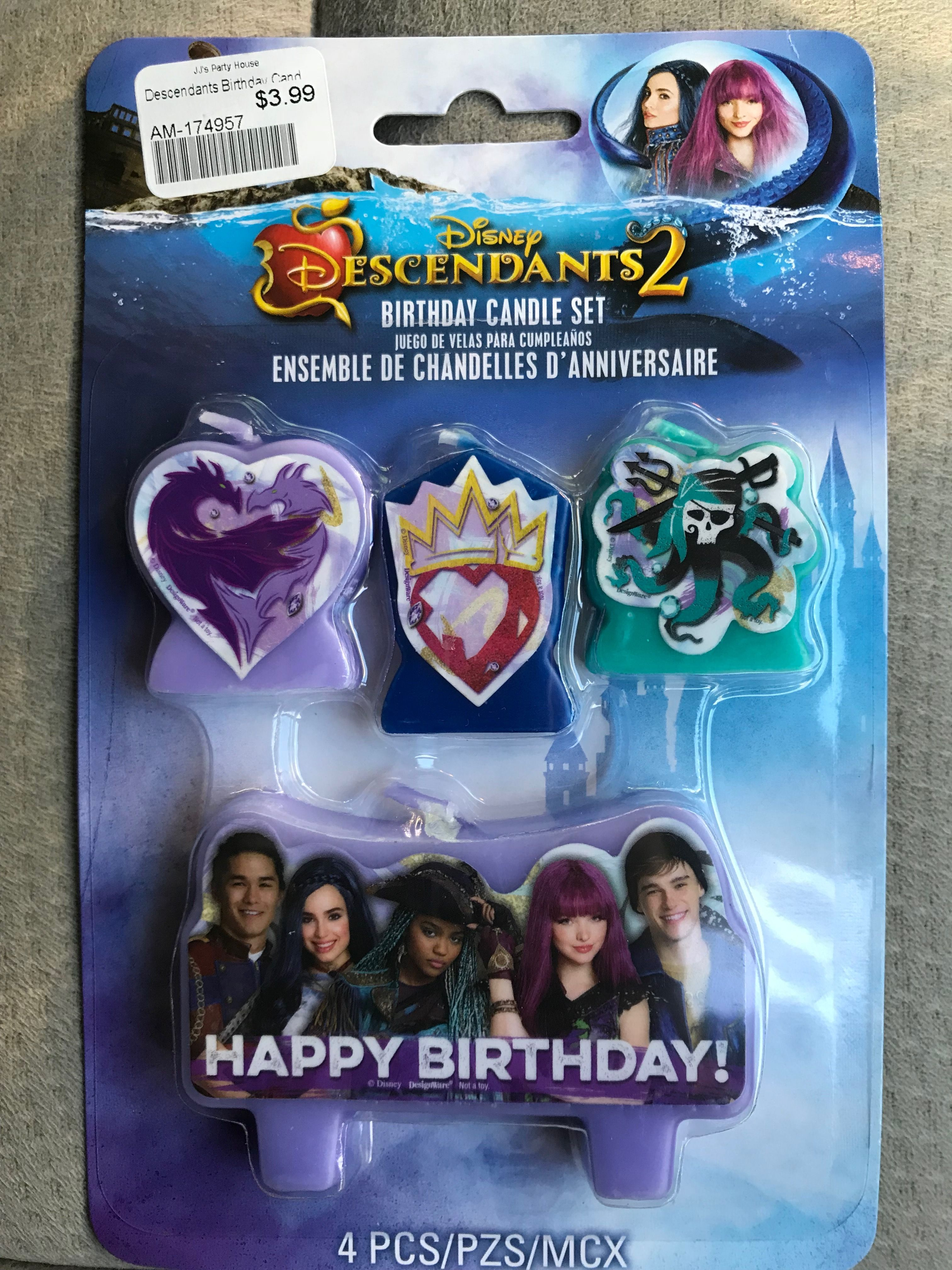 Descendants 2 Birthday Candle Uma Candles Decorations 2nd