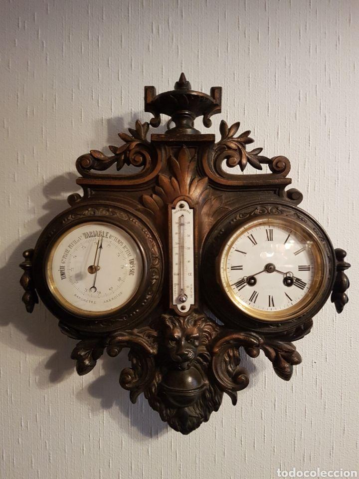 20910ff82077 RARO Reloj PARED PARIS . Barómetro.Termometro - Foto 1