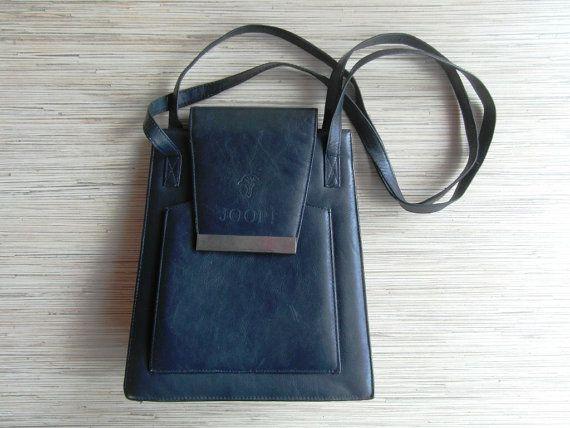 Vintage Genuine Leather Joop Handbag Purse By Vintagepearlhunt