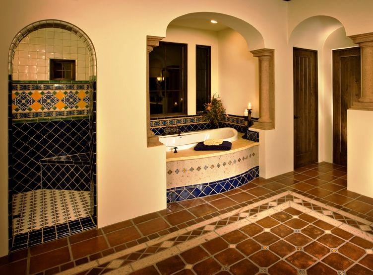 Luxyry home builders talavera tile design ideas bathroom pinterest tile design blue - Bathroom tiles talavera ...