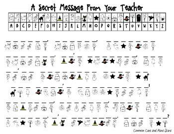 Halloween Secret Message From Your Teacher (Decoding ...