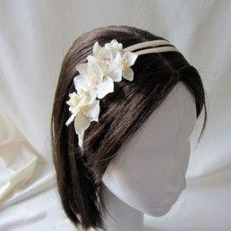 Diadema de flores espectacular para niñas de primera comunión