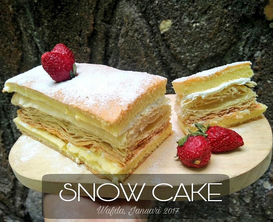 Resep Snow Cake Atau Kue Salju By Dapurwafda Makanan Resep Masakan Indonesia Resep Kue