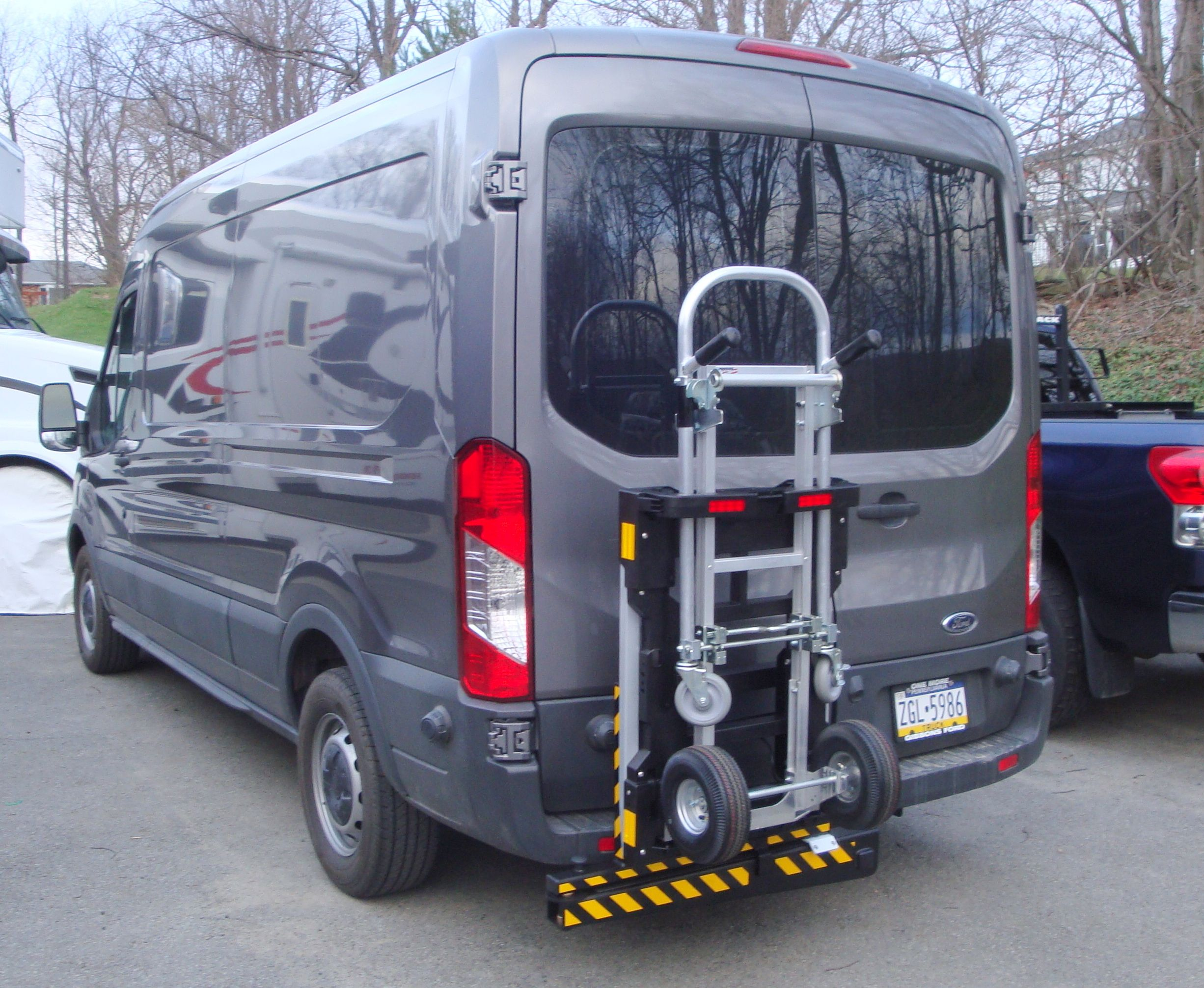 Ford Transit 250 cargo van with HTS Systems' HTS20SFTH