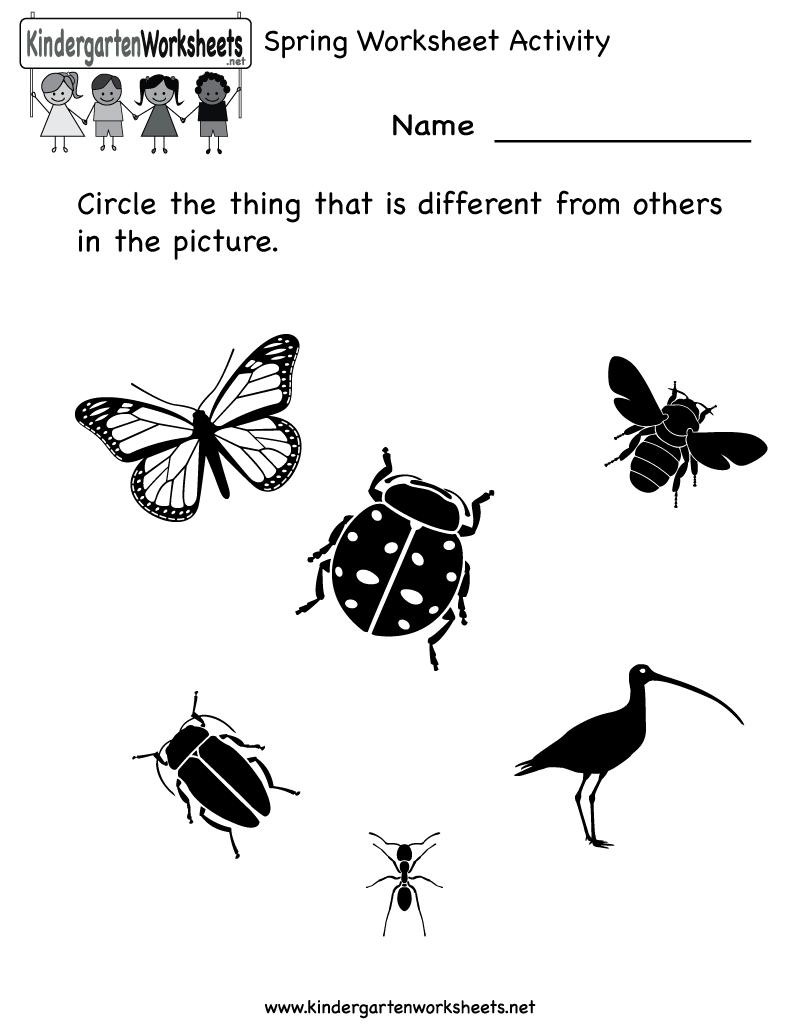worksheet Spatial Concepts Worksheets kindergarten spring worksheet activity printable printable