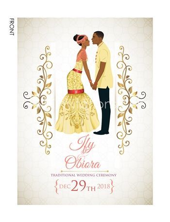 Akwa Nwa Igbo Nigerian Traditional Wedding Invitation Traditional Wedding Invitations Nigerian Traditional Wedding Wedding Invitations