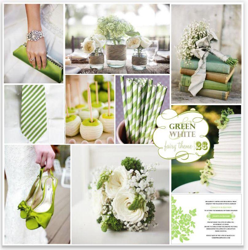 Lime Green Wedding Fairy Theme 26 Green White Green