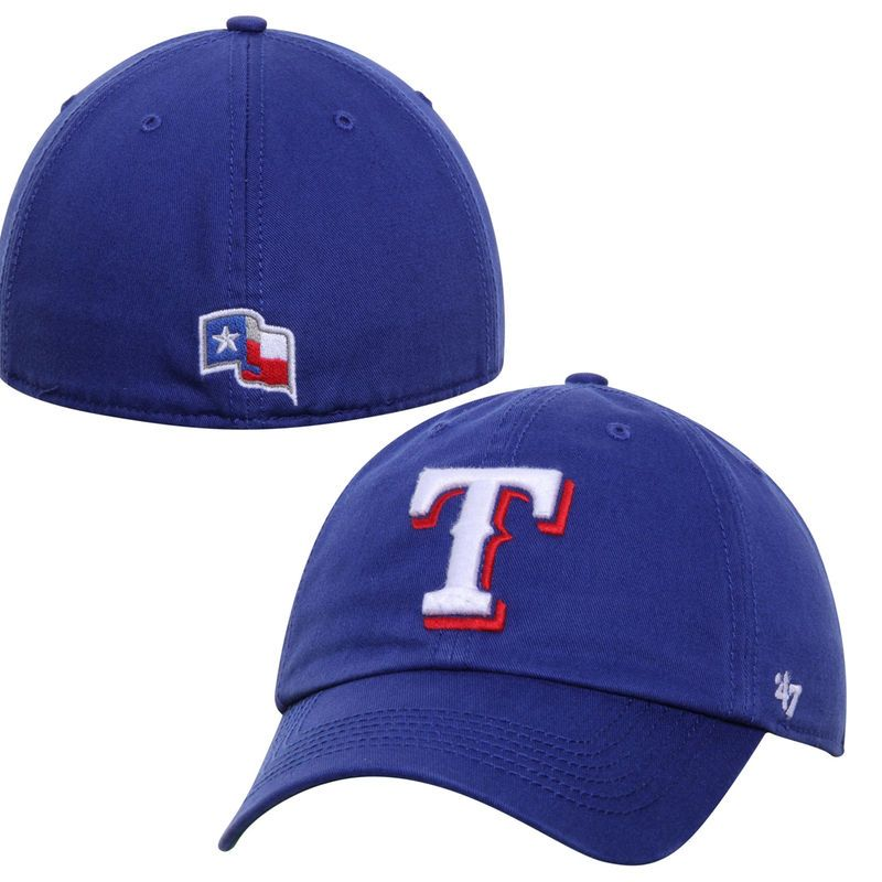 sports shoes 5ca69 ca8c2 Texas Rangers  47 Franchise Fitted Hat - Royal